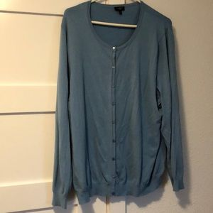 Talbots 3X Sky Blue 2 Piece Cardigan Set